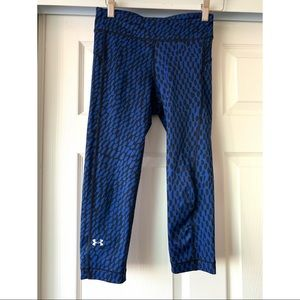 Under Armour blue cropped leggings size S